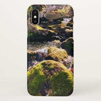 Funda Para iPhone X Caja cubierta de musgo del teléfono de las rocas
