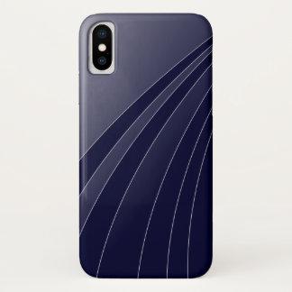 Funda Para iPhone X Caja curvada blanco clásico del teléfono de la