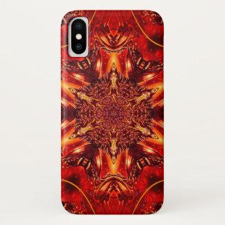 Funda Para iPhone X Caja de la estrella del oro del demonio de