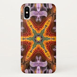 Funda Para iPhone X Caja de la mandala de la estrella del demonio de