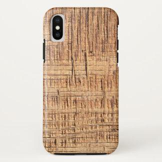 Funda Para iPhone X Caja de madera áspera del teléfono del grano