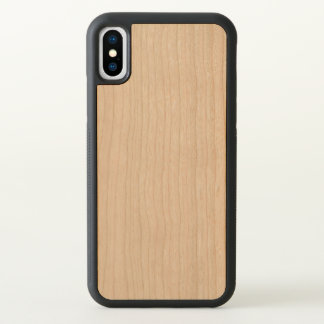 Funda Para iPhone X Caja de madera tallada del parachoque del iPhone X