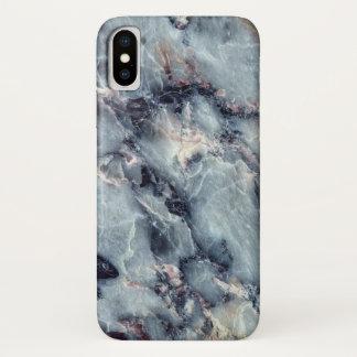 Funda Para iPhone X Caja de mármol azul
