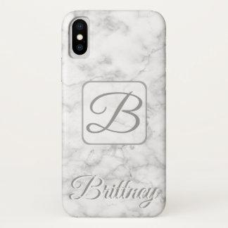 Funda Para iPhone X Caja de mármol blanca de encargo de Iphone x