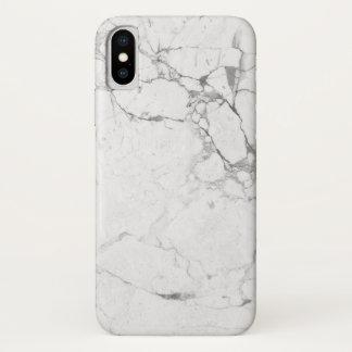 Funda Para iPhone X Caja de mármol blanca del iPhone