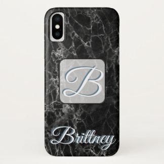 Funda Para iPhone X Caja de mármol negra de encargo de Iphone x