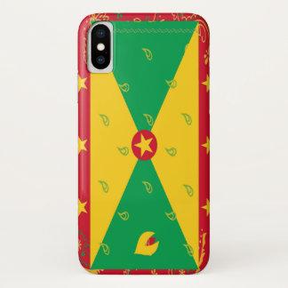 Funda Para iPhone X Caja del teléfono de la bandera de Grenada