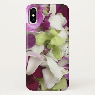 Funda Para iPhone X Caja del teléfono de la flor de la orquídea