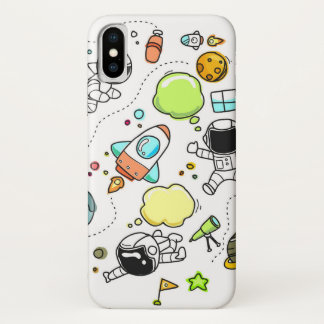 Funda Para iPhone X Caja del teléfono del diseño del planeta de Rocket