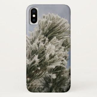 Funda Para iPhone X Caja del teléfono del pino Nevado
