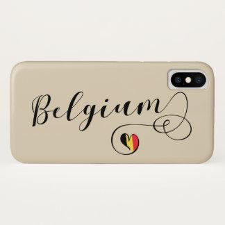 Funda Para iPhone X Caja del teléfono móvil de Bélgica del corazón,