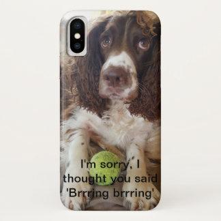Funda Para iPhone X caja del teléfono móvil del perro de aguas de