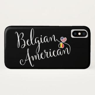 Funda Para iPhone X Caja entrelazada americano belga del teléfono
