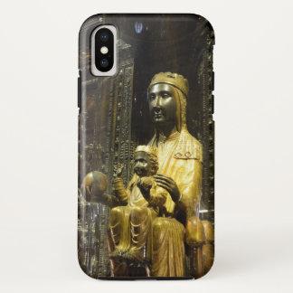 Funda Para iPhone X caja negra de Montserrat del madonna