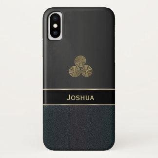 Funda Para iPhone X Caja negra personalizada del iPhone X de Triskele