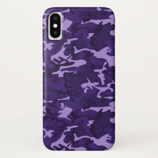 Funda Para iPhone X Caja púrpura del iPhone X del modelo del camuflaje