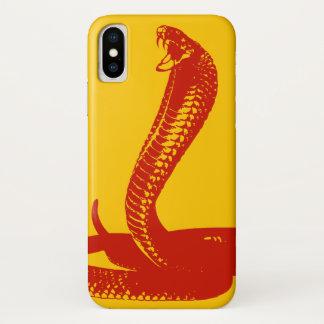 Funda Para iPhone X Caja roja del iPhone de la cobra real