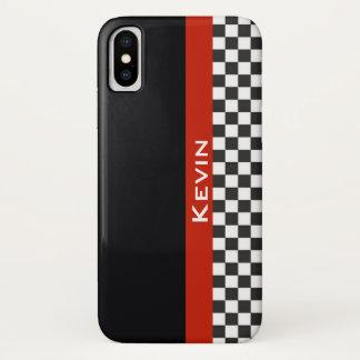 Funda Para iPhone X Caja roja del iPhone X del diseño de la raya que