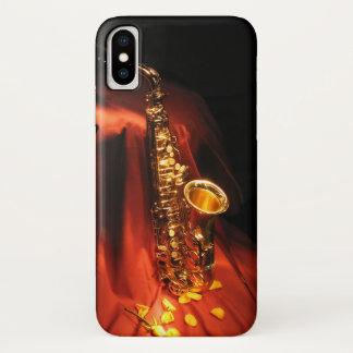 Funda Para iPhone X Caja roja del iPhone X del saxofón