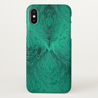 Funda Para iPhone X Caja verde verde azulada oscura del iPhone X del