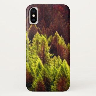 Funda Para iPhone X Caja vibrante del teléfono del pino del otoño