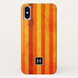 Funda Para iPhone X Caliente el monograma resistido de las rayas del