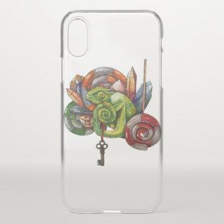 Funda Para iPhone X camaleón y cristales