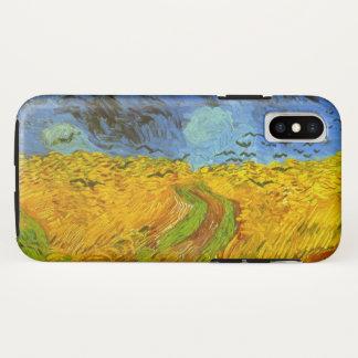 Funda Para iPhone X Campo de trigo de Van Gogh con los cuervos, bella