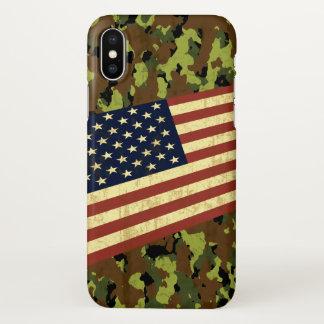 Funda Para iPhone X Camuflaje de la bandera americana