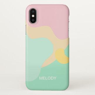 Funda Para iPhone X Camuflaje en colores pastel abstracto