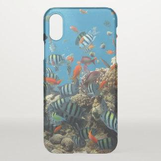 Funda Para iPhone X Caos tropical de los pescados