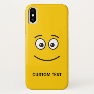 Funda Para iPhone X Cara sonriente con los ojos abiertos
