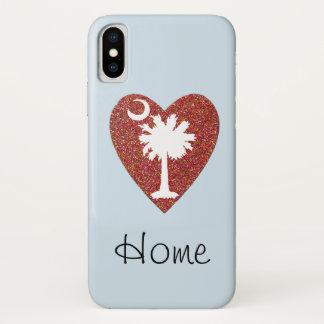 """Funda Para iPhone X Carolina del Sur """"casero"""" es donde está el corazón"""