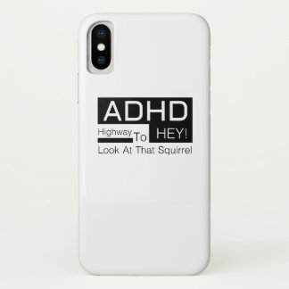 Funda Para iPhone X Carretera de ADHD ey para mirar la conciencia del