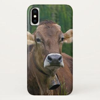 Funda Para iPhone X Caso alpino del iPhone X de la vaca