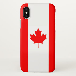 Funda Para iPhone X Caso brillante del iPhone con la bandera de Canadá
