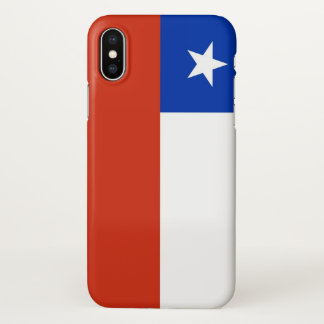 Funda Para iPhone X Caso brillante del iPhone con la bandera de Chile