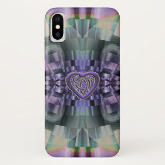 Funda Para iPhone X Caso céltico del iPhone X del nudo del corazón del