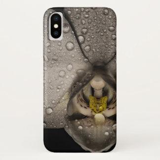 Funda Para iPhone X Caso con clase del teléfono de la orquídea