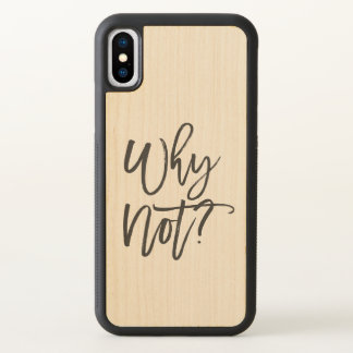Funda Para iPhone X Caso de madera de la cita del arce de motivación