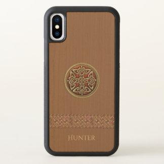 Funda Para iPhone X Caso de madera natural del iPhone X del nudo