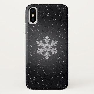 Funda Para iPhone X Caso de plata del iPhone X del negro del copo de