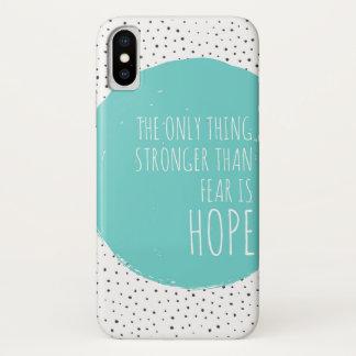 Funda Para iPhone X Caso del iPhone X de la fuerza de la inspiración