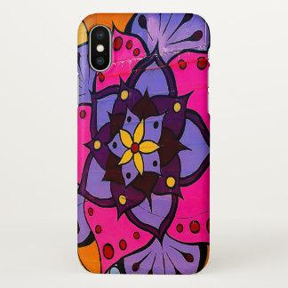 Funda Para iPhone X Caso del iPhone X de la mandala de la flor