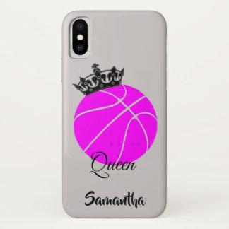 Funda Para iPhone X Caso del iphone x de la reina del baloncesto