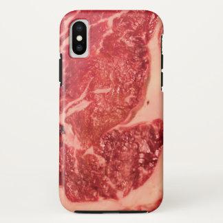 Funda Para iPhone X Caso del iPhone X de la textura del filete de