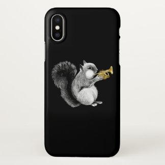 Funda Para iPhone X Caso del iPhone X de la trompeta de la ardilla