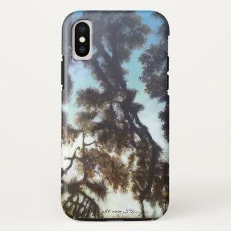 Funda Para iPhone X Caso del iphone X del árbol y del cielo