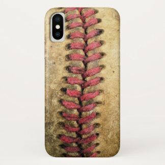 Funda Para iPhone X Caso del iPhone X del béisbol del vintage