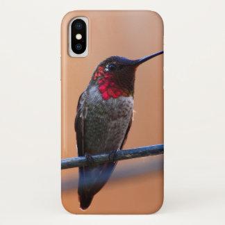 Funda Para iPhone X Caso del iPhone X del colibrí